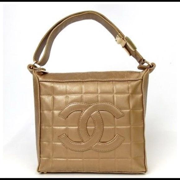 75c5380b04ae CHANEL Bags | Authentic Bag Choco Bar Coco Shoulder Bag | Poshmark